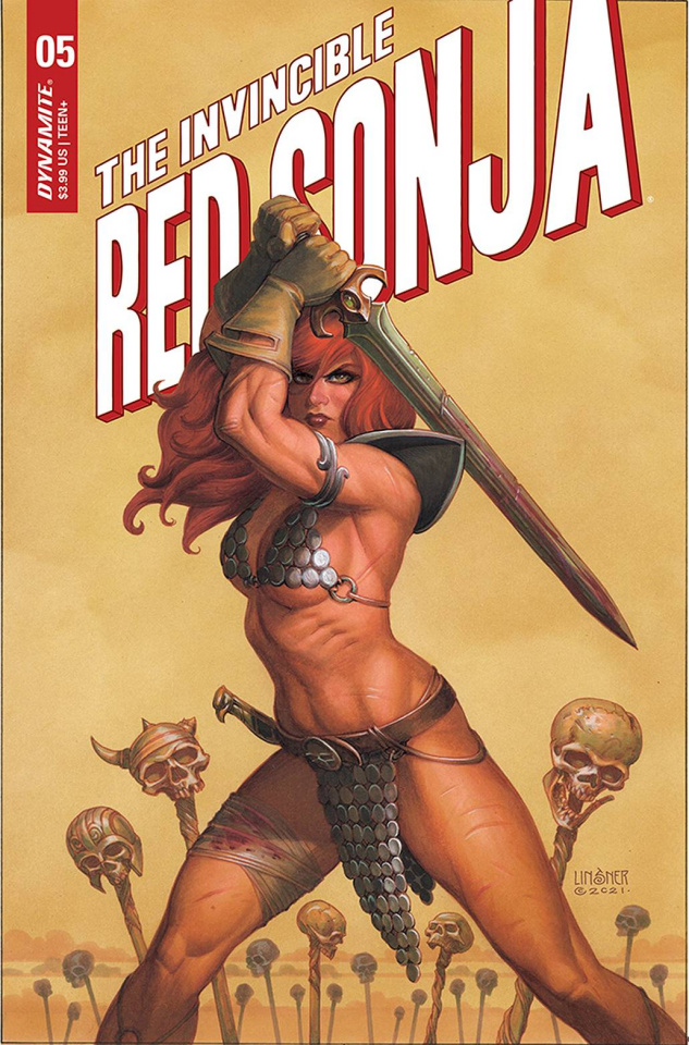 The Invincible Red Sonja #5 (Linsner Cover)