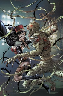 Grimm Fairy Tales: Van Helsing vs. The Mummy of Amun Ra #1 (Oter Cover)
