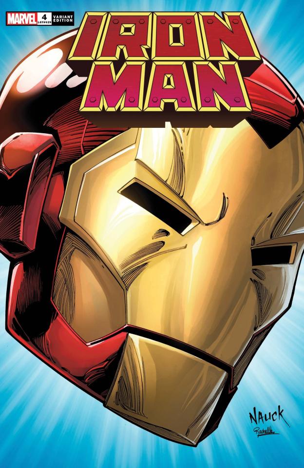 Iron Man #4 (Nauck Headshot Cover)