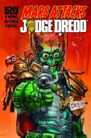 Mars Attacks Judge Dredd #2 (Subscription Cover)