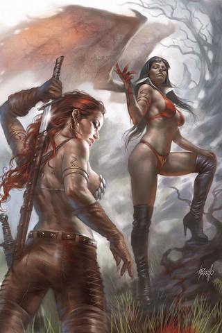 Vampirella / Red Sonja #4 (Parrillo Virgin Cover)