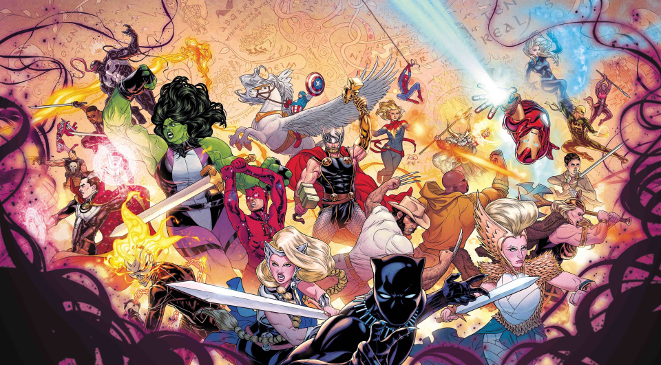 The War of the Realms #1 (Dauterman Wraparound Gatefold Young Guns Cover)