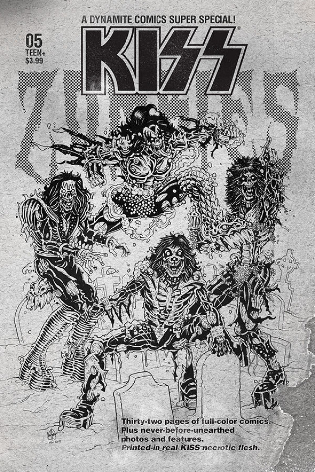KISS: Zombies #5 (7 Copy Haeser B&W Cover)