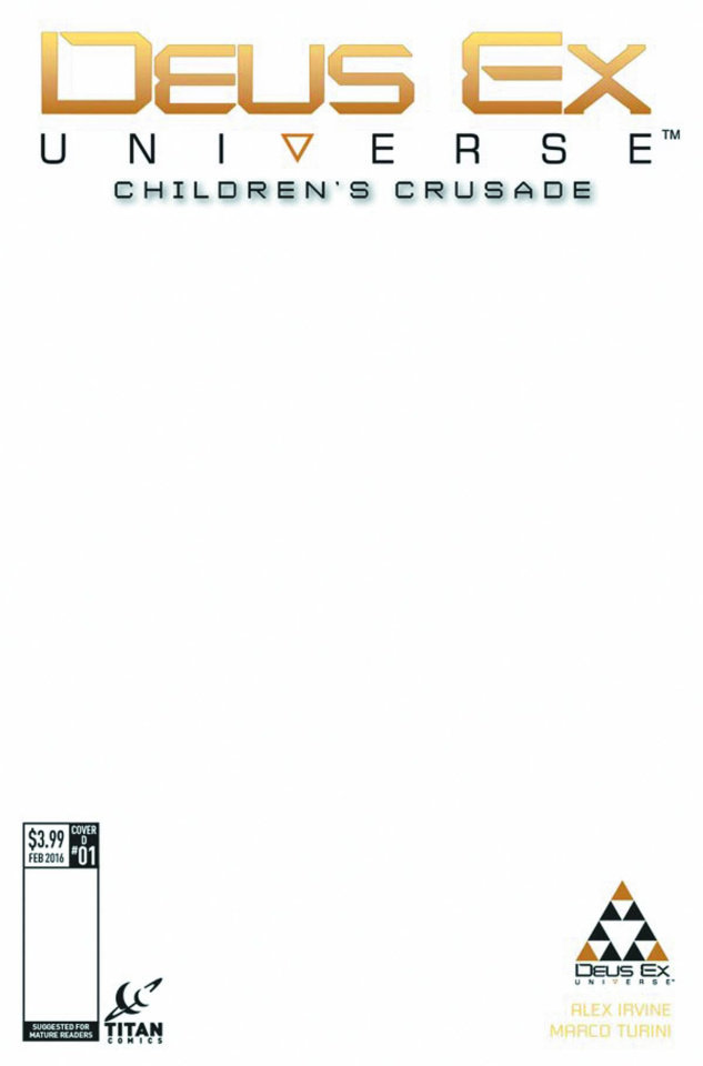 Deus Ex #1 (Blank Sketch Cover)