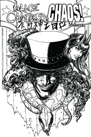 Alice Cooper vs. Chaos! #2 (15 Copy Chin B&W Cover)