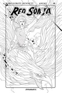 Red Sonja #6 (10 Copy Sauvage B&W Cover)