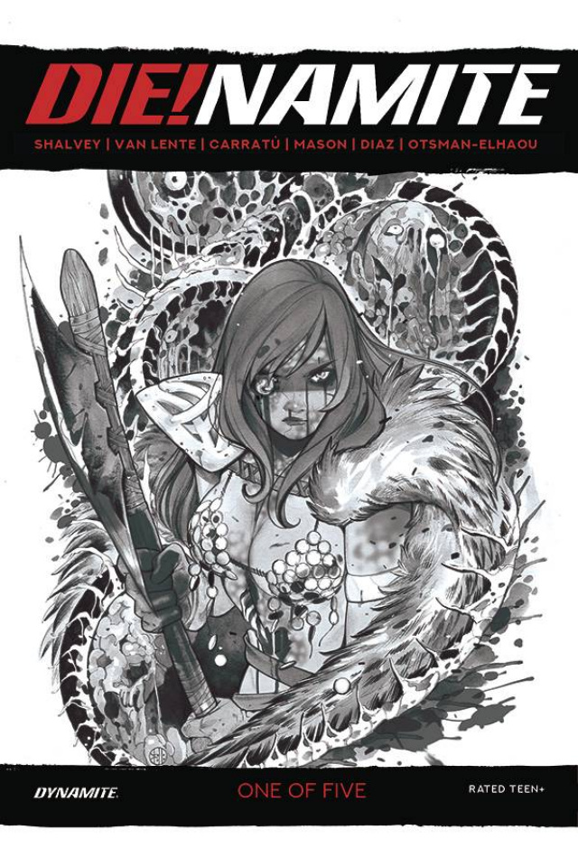 DIE!namite #1 (35 Copy Momoko Sonja Zombie Living Dead Grayscale Cover)