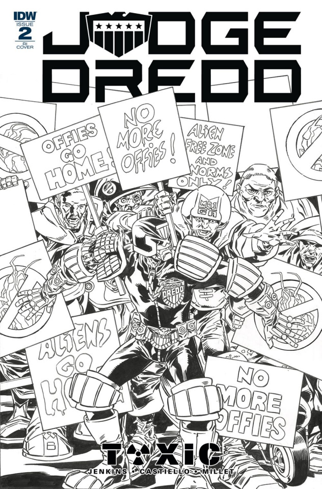 Judge Dredd: Toxic #2 (10 Copy Buckingham Cover)