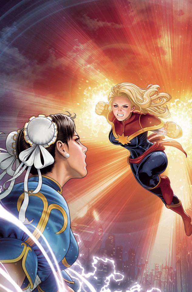 The Mighty Captain Marvel #8 (Marvel vs. Capcom Cover)