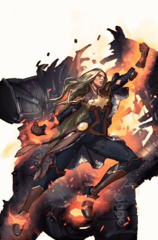Captain Marvel #4 (Parel Asgardian Cover)
