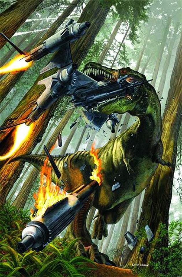 Jurassic Strike Force 5 #3 (Cacau Cover)