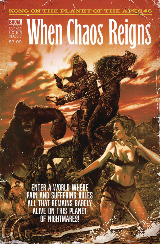 Kong on the Planet of the Apes #6 (Dalton Pulp Cover)