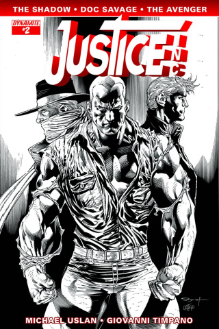 Justice, Inc. #2 (15 Copy Syaf B&W Cover)