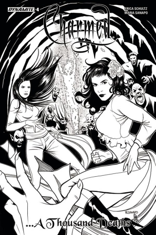 Charmed #4 (10 Copy Sanapo B&W Cover)