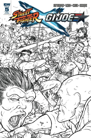 Street Fighter X G.I. Joe #5 (25 Copy Cover)