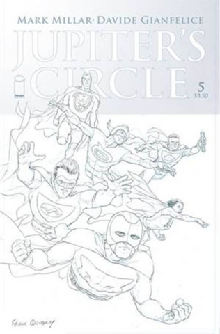 Jupiter's Circle #5 (Quitely B&W Cover)