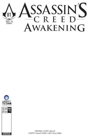 Assassin's Creed: Awakening #1 (Blank Sketch Cover)