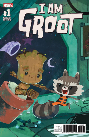 I Am Groot #1 (Night Night Groot Cover)