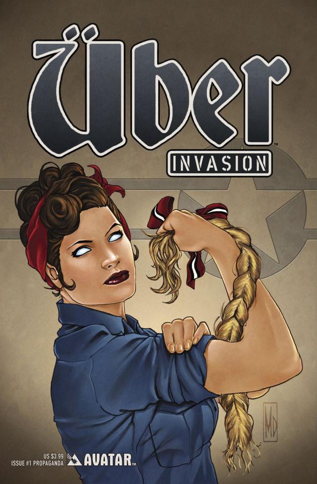Über: Invasion #1 (Propaganda Poster Cover)