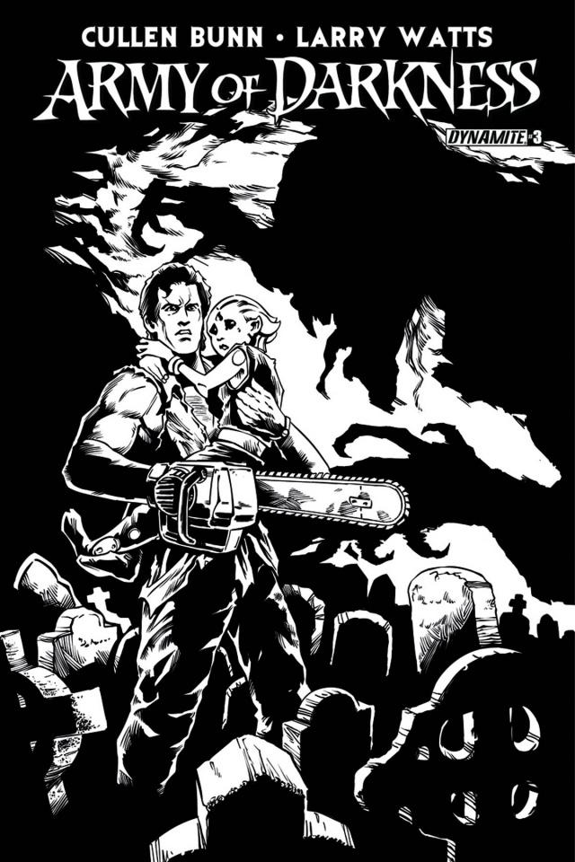 Army of Darkness #3 (25 Copy Tenorio B&W Cover)