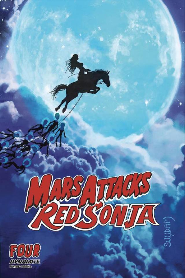 Mars Attacks / Red Sonja #4 (Suydam Cover)