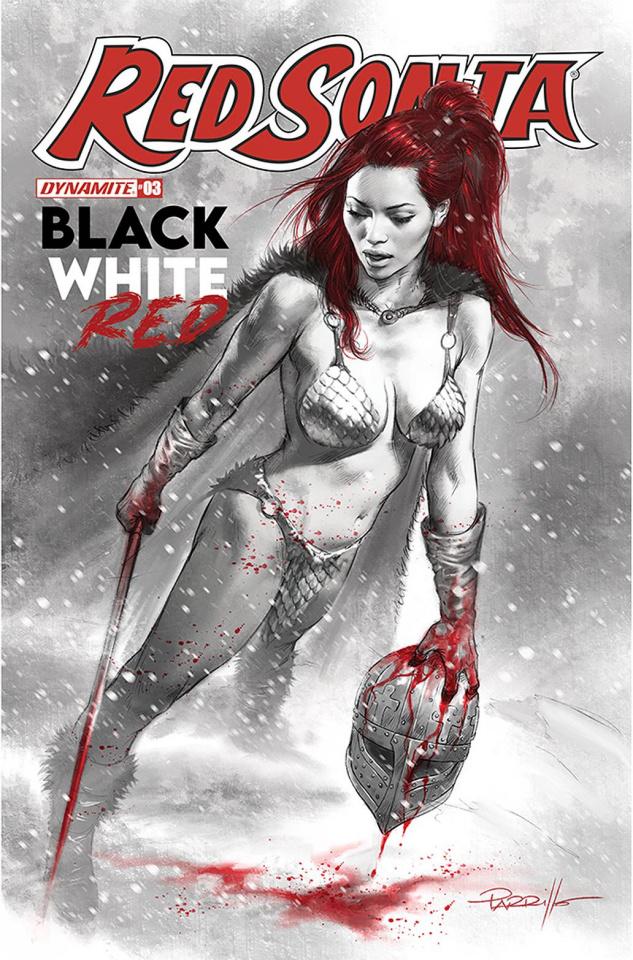 Red Sonja: Black, White, Red #3 (Parrillo Cover)