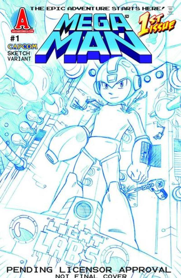 Mega Man #1 (Chad Thomas Cover)