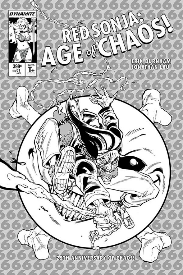 Red Sonja: Age of Chaos #1 (21 Copy Tormey B&W Cover)
