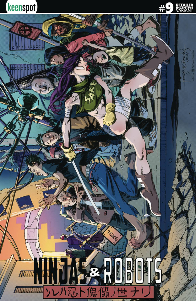 Ninjas & Robots #9 (5 Copy Morales Cover)