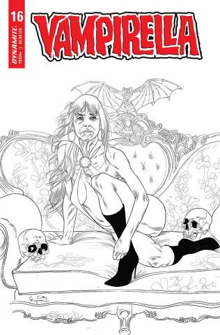 Vampirella #16 (25 Copy Gunduz B&W Cover)