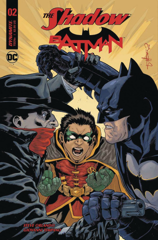 The Shadow / Batman #2 (Timpano Subscription Cover)