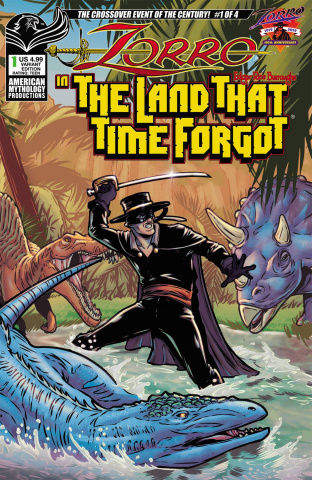 Zorro in the Land That Time Forgot #1 (Puglia Cover)