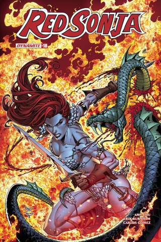 Red Sonja #18 (Royle Subscription Cover)