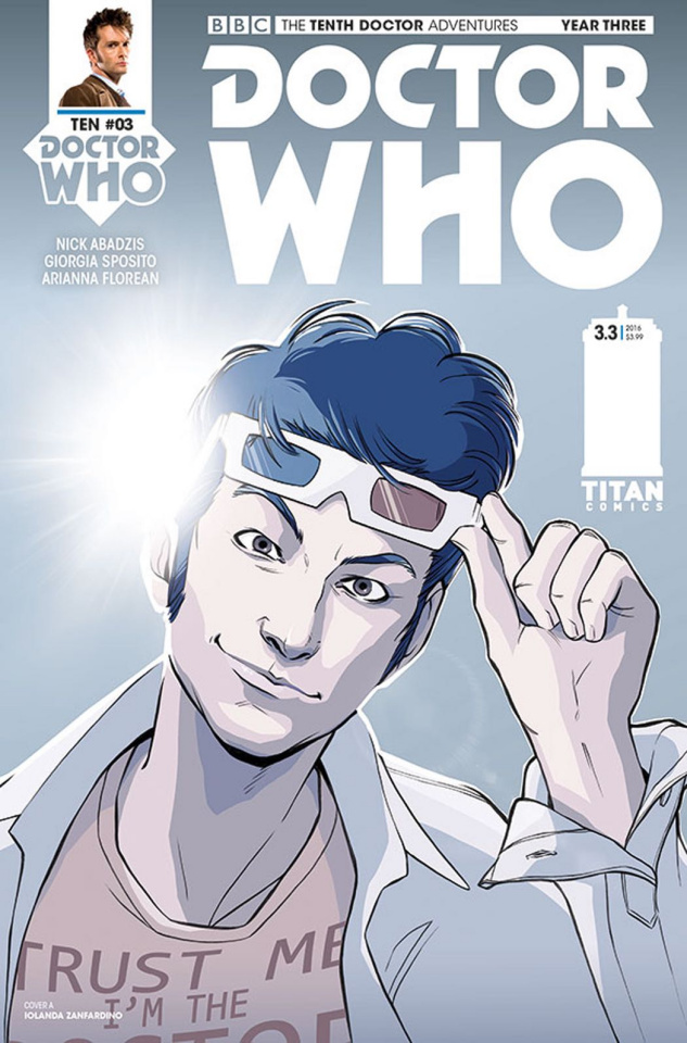 Doctor Who: New Adventures with the Tenth Doctor, Year Three #3 (Zanfardino Cover)