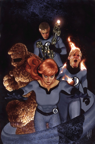Tony Stark: Iron Man #3 (Hughes Return of Fantastic Four Cover)