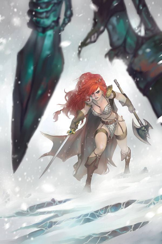 Red Sonja: Age of Chaos #5 (21 Copy Hetrick Virgin Cover)