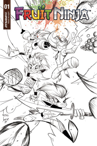 Fruit Ninja #1 (10 Copy Brown B&W Cover)