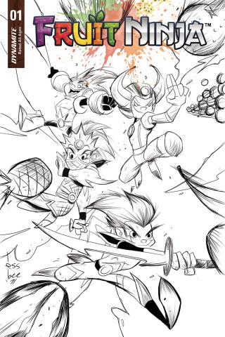 Fruit Ninja #1 (10 Copy Brown B&W Cover)