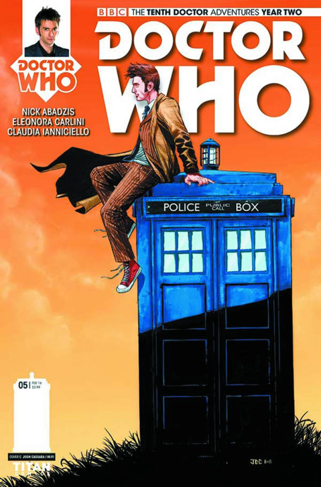 Doctor Who: New Adventures with the Tenth Doctor, Year Two #5 (Cassara Cover)