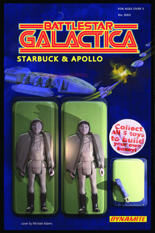 Battlestar Galactica #3 (Adams Action Figure Cover)