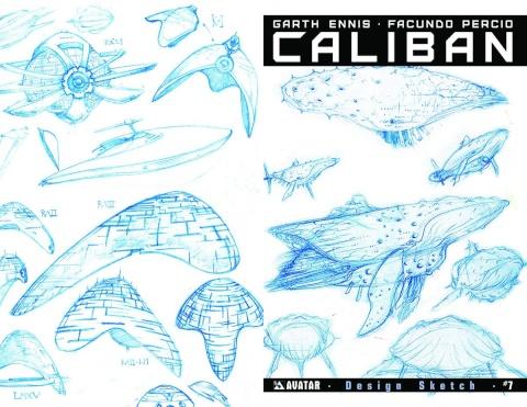 Caliban #7 (Design Sketch Cover)