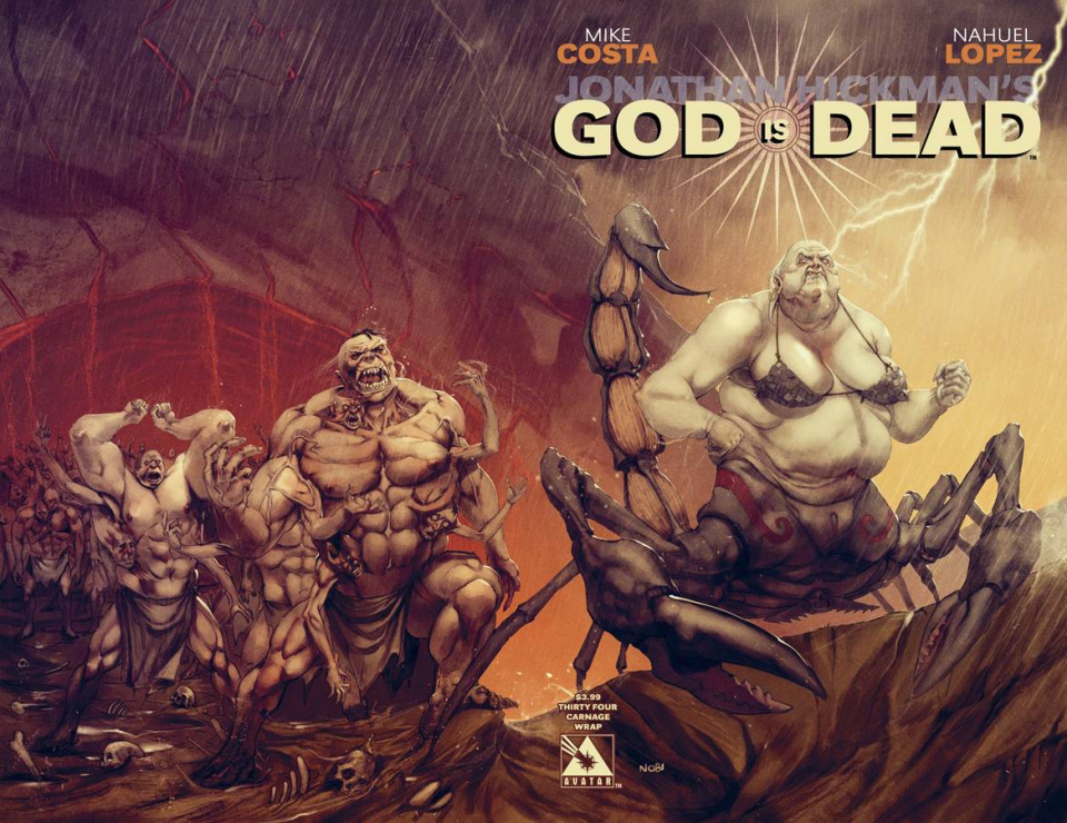 God Is Dead #34 (Carnage Wrap Cover)
