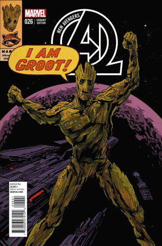 New Avengers #26 (Rocket Raccoon & Groot Cover)
