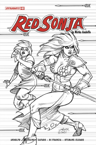 Red Sonja #2 (25 Copy Linsner B&W Cover)