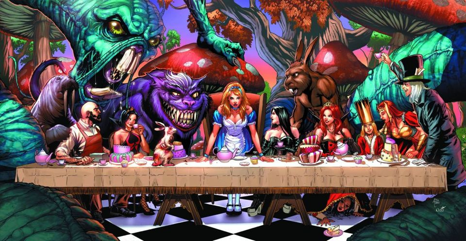 Grimm Fairy Tales: Alice in Wonderland #6 (Spay Cover)