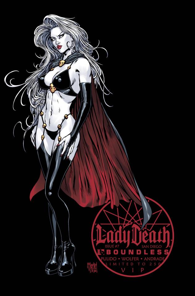 Lady Death #7 (San Diego VIP Cover)