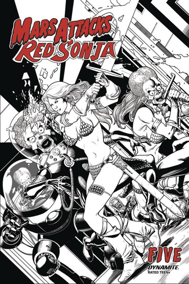 Mars Attacks / Red Sonja #5 (10 Copy Kitson B&W Cover)