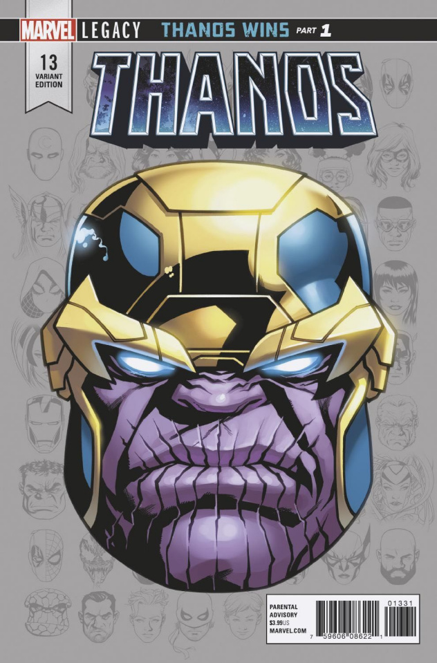 Thanos #13 (McKone Legacy Headshot Cover)