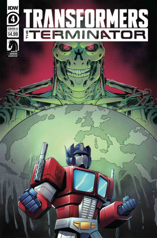 The Transformers vs. The Terminator #4 (Manafort Cover)