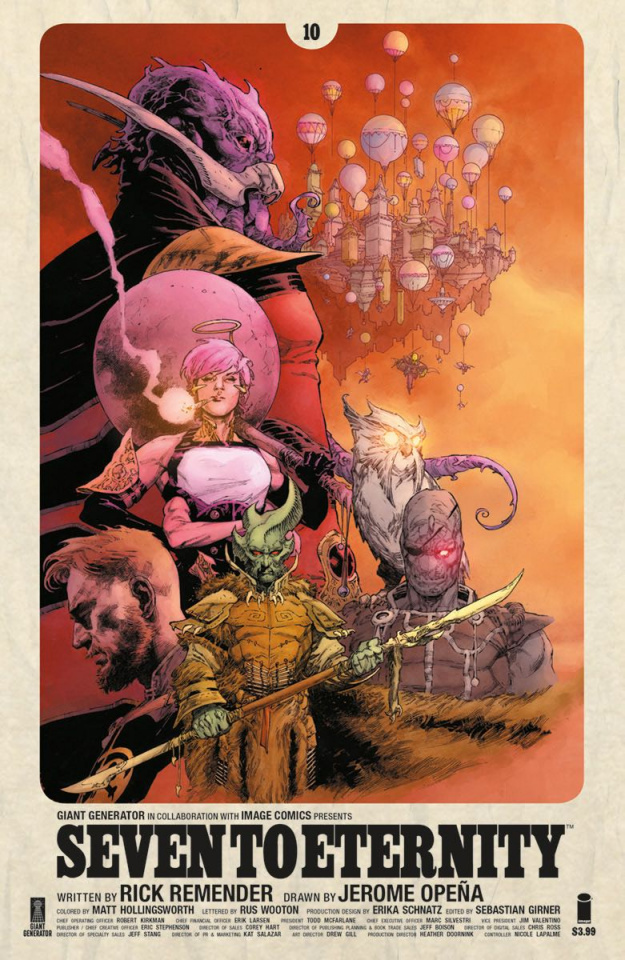 Seven to Eternity #10 (Opena & Hollingsworth Cover)